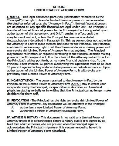 Alaska Limited Power of Attorney Form