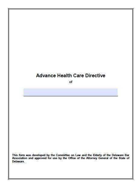 Delaware Advance Directive
