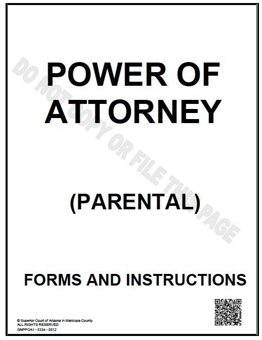 Parental/Guardianship POA