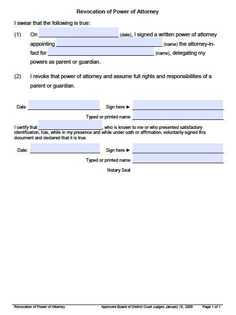 Utah Revocation Form